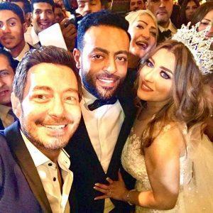احمد زاهر مع تامر عاشور وزوجته سمر