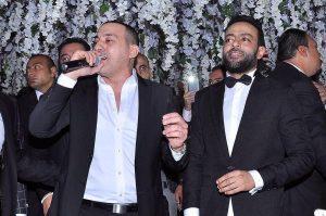 دياب مع تامر عاشور فى حفل زفافه