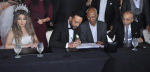 حفل زفاف تامر عاشور و عروسه سمر