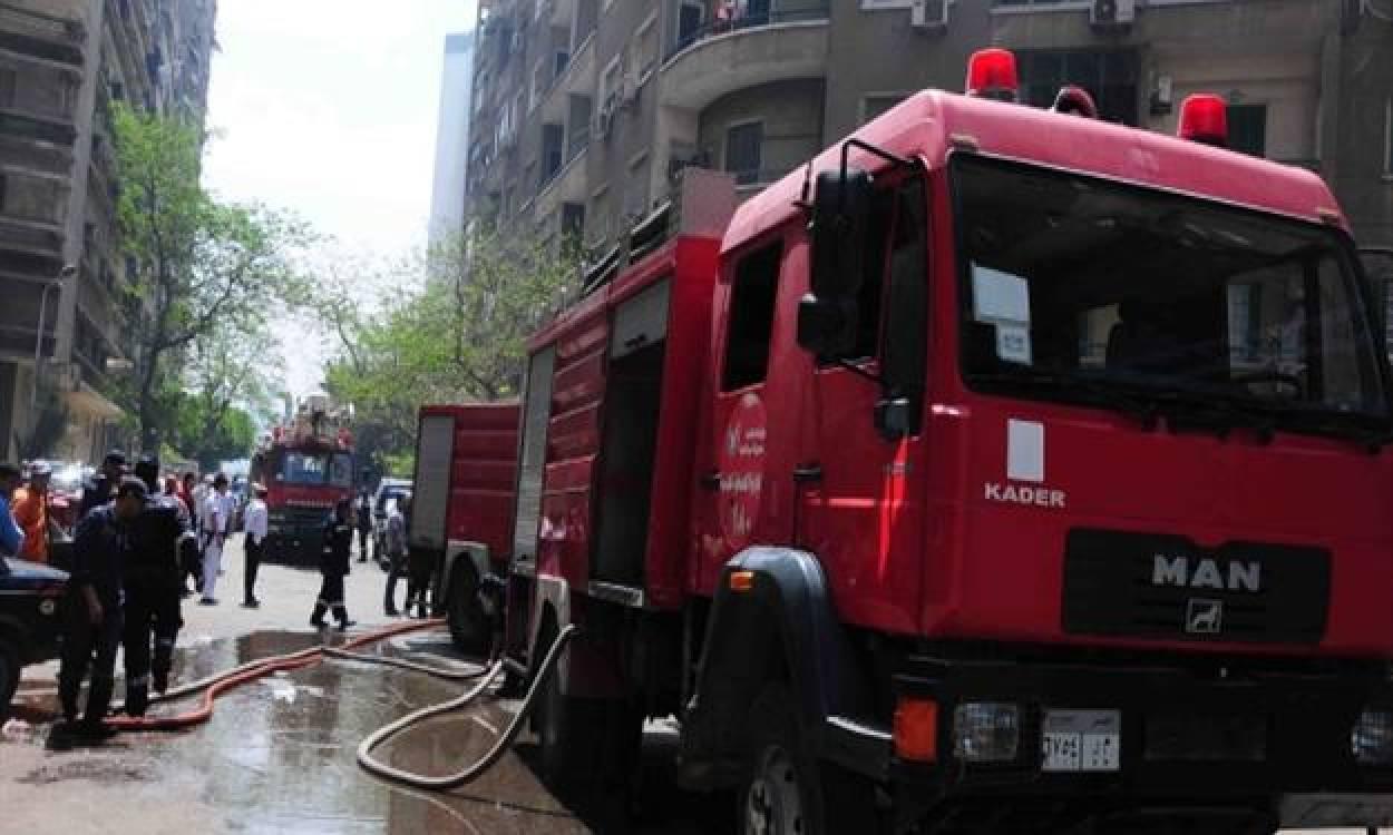إندلاع حريق هائل في حي الهرم